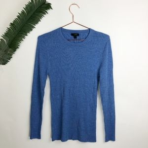 j crew Long merino wool ribbed sweater